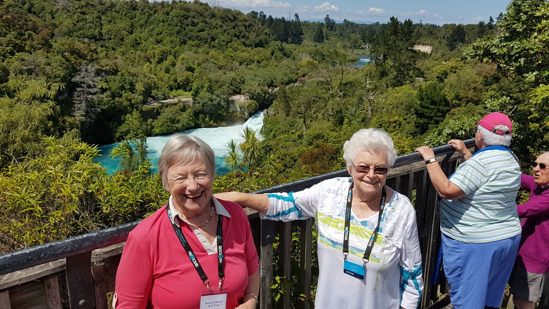 A quick stop along the way to view the wonderful Huka Falls and the 'crazy's' in the jet boats