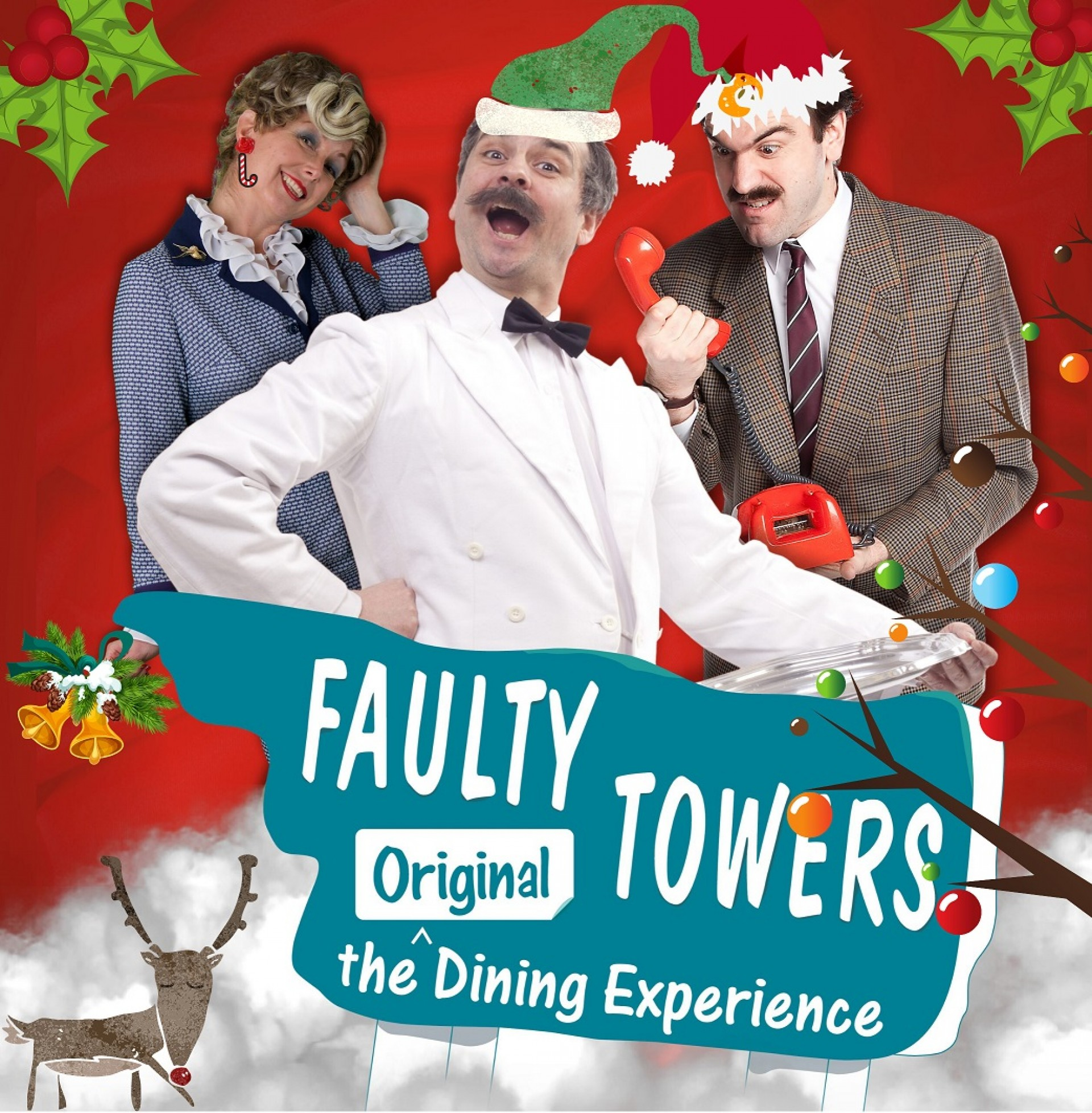 Midwinter Xmas Lunch at Farty Flowers Fawlty Towers!